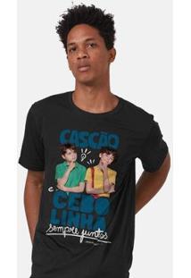 Camiseta Bandup! Turma Da Mônica Laços Cascão E Cebolinha Sempre Juntos Masculina - Masculino