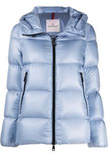 Moncler Classic Zip Puffer Jacket - Azul