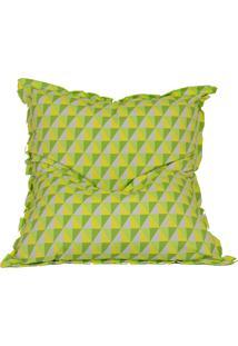 Puff Almofadão Acquablock - Stay Puff - Amarelo Geométrico
