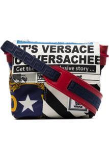Versace Bolsa Transversal Com Estampa De Bandeira - Kmxps Multicoloured