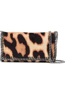 Stella Mccartney Bolsa Transversal Falabella Com Animal Print - Marrom