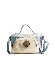 Bolsa Qfy Com Nécessaire Bag - Azul