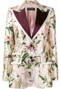 Dolce & Gabbana Blazer Com Estampa Lily - Rosa