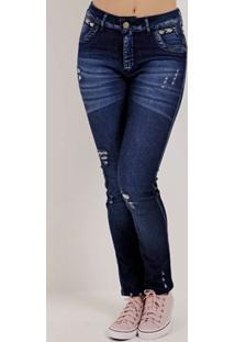 Calça Jeans Feminina Bivik Azul