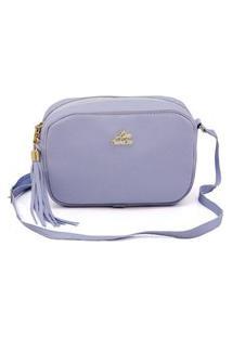 Bolsa Pequena Feminina Alça Transversal Azul Bebe