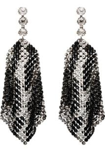 Isabel Marant Draped Crystal-Embellished Earrings - Metálico
