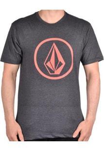 Camiseta Volcom Silk Circle Stone Masculina - Masculino