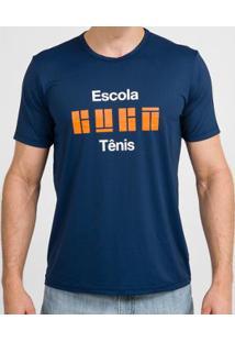 Camiseta Educador Escola Guga Fanzoca - Masculino-Azul Escuro