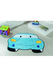 Tapete Antiderrapante Formato Carro Azul Turquesa 0,78 X 0,60 Cm