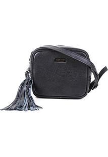 Bolsa Couro Santa Lolla Mini Bag Barbicachos Feminina - Feminino-Preto
