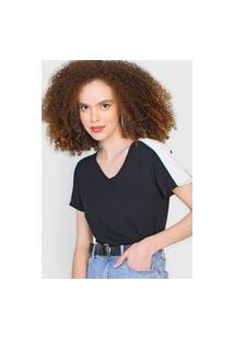 Blusa Cativa Color Block Preta/Branca