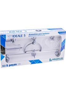 Kit De Acessórios Para Banheiro Ideale Com 5 Peças Cristal