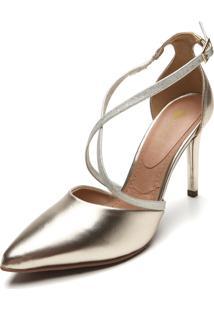 Scarpin D.Dress Metalizado Dourado
