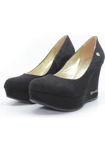 Scarpin Barth Shoes Land Simple Suede - Preto - Preto - Feminino - Dafiti
