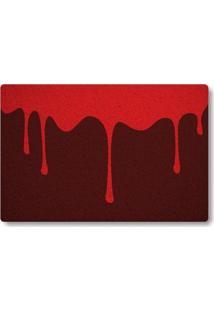 Tapete Capacho Sangue - Vermelho