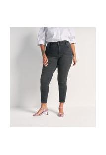 Calça Jeans Skinny Push Up Curve E Plus Size Preto
