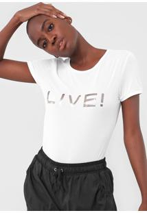Camiseta Live! Logo Branca - Branco - Feminino - Dafiti