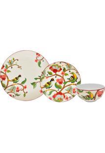 Aparelho De Jantar Melia Red Porcelana 18 Peças - 102433