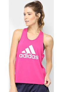 Regata Adidas D2M Logo Feminina - Feminino-Rosa