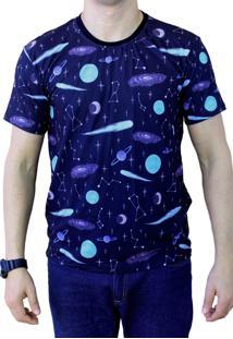 Camiseta Ops Astronomy Pattern Estampada