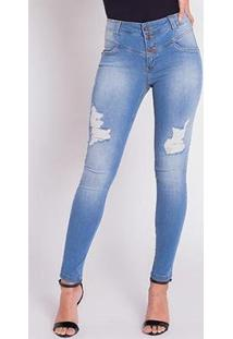 Calça Jeans Areazul Cigarrete Feminina - Feminino