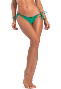 Calcinha Tanga Lisa Com Franzido - Verdevestem