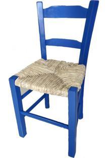 Cadeira Lagiana Pequena Eucalipto Azul Palha - 31283 Sun House
