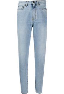 Saint Laurent Calça Jeans Boyfriend Reta - Azul