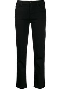 J Brand Calça Jeans Reta Cropped - Preto
