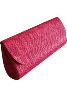 Clutch Bolsa Carteira De Mão Artestore Palha De Buriti Vermelha
