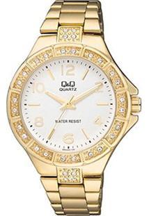 Relógio Qq Analógico Q953J004Y Feminino - Feminino-Dourado