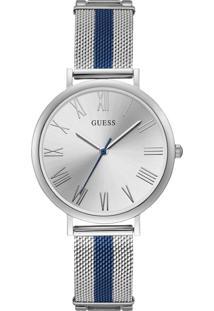 Relógio Guess Feminino Aço Prateado E Azul - 92711Lpgdoa1