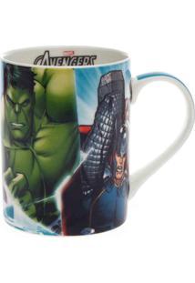 Caneca Avengers Turquesa 460 Ml - Caneca Avengers Turquesa 460 Ml