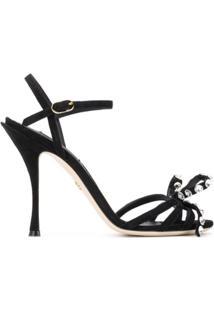 Dolce & Gabbana Sandália 105 De Couro - Preto