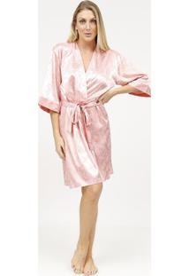 Robe Acetinado Com Amarraã§Ã£O- Rosa Claro- Fruit De Lfruit De La Passion