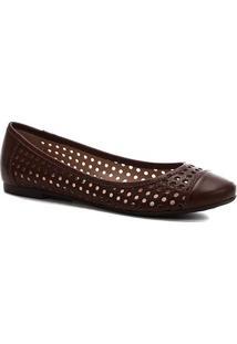 Sapatilha Shoestock Laser Feminina - Feminino-Marrom Claro