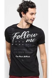 Camiseta Acostamento Masculina - Masculino-Preto