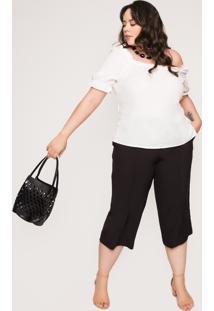 Bolsa Almaria Plus Size Salva Look Talam Liso Preta