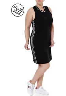 Vestido Plus Size Autentique - Feminino-Preto