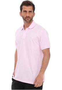 Camisa Polo New York Polo Club Slim - Masculino-Rosa