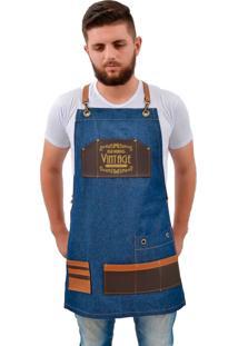 Avental Lucinoze Camisetas Vintage Jeans Azul