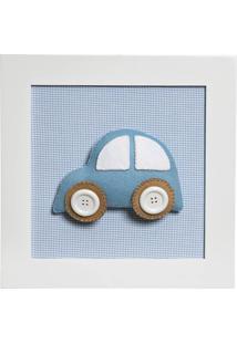 Quadro Decorativo Carro Potinho De Mel Azul