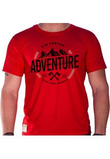 Camiseta Masculina Eco Canyon Enjoy Every Moment Vermelho