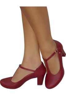 Sapato De Dança De Salão Duani Ritmus Boneca Vermelho