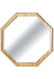 Espelho Martis Octavado Com Moldura Em Lamina Cinamomo 65 Cm (Larg) - 48852 - Sun House