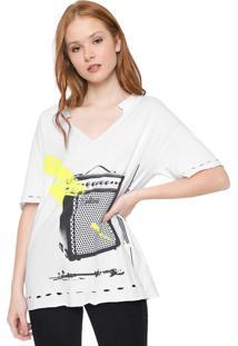 Blusa Calvin Klein Jeans Destroyed Color Branca