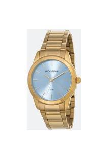 Kit Relógio Feminino Mondaine 53676Lpmvde2K Analógico 5Atm + Conjunto Semijóia | Mondaine | Azul | U