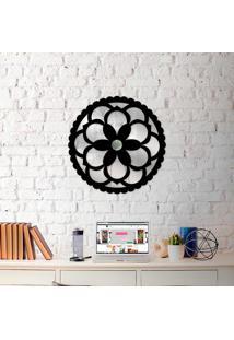 Escultura De Parede Wevans Mandala Flowers + Espelho Decorativo