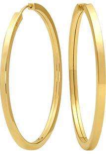 Argola Lisa Ouro Amarelo