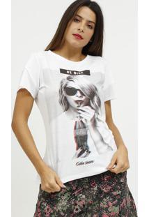 "Camiseta ""Be Nice""- Branca & Preta- Coca-Colacoca-Cola"